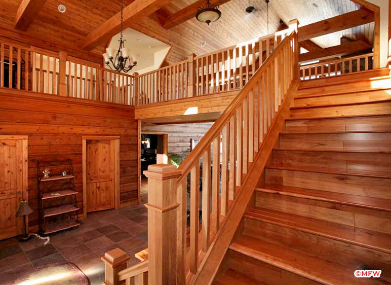 Cherry Staircase And Balustrade